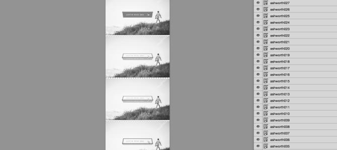 コマ送りアニメーション用の一枚画像に簡単に変換するPhotoshop用JSXスクリプトを作りました