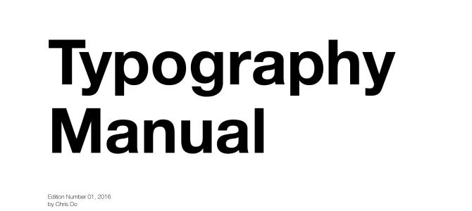 【翻訳】Typography Manual/タイポグラフィ マニュアル